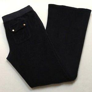 Juicy black velvet pant. Worn once!